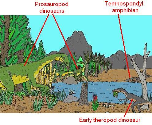 The late Triassic period